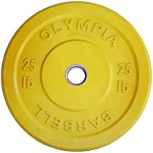 Solid Rubber Weight Plates- Yellow 25lb Pair PICTURE FO RREFERENCE ONLY