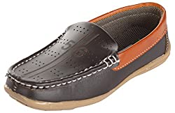 Kolapuri Centre Boys Brown Synthetic Loafers - 13 UK