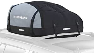 Highland 1039800 Black/Gray 10-15 cu.ft. Expandable Car Top Bag by Rola