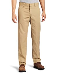 Dickies Men\'s Slim Straight Fit Work Pant, Washed Maple, 30X32
