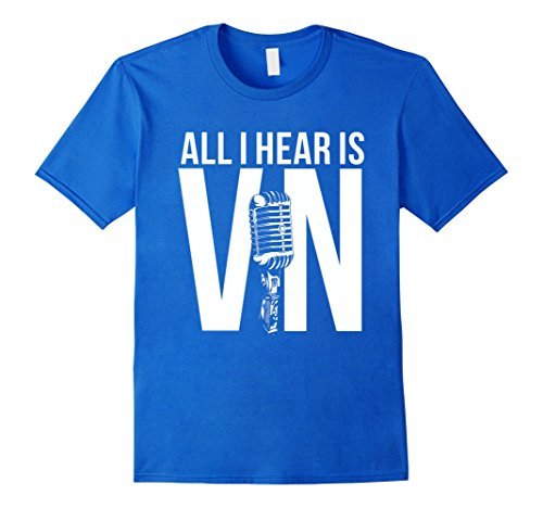 Men's #VinScul-ly – All I Hear Is Vin T Shirt Large Royal Blue