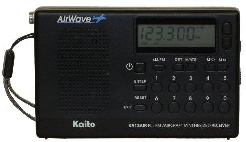 Kaito KA12AIR PLL Digital FM & Aircraft Band Radio, Black, 2012 Newest Version