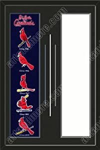 St. Louis Cardinals & Your Choice of other Team Heritage Banner Framed-House... by Art and More, Davenport, IA