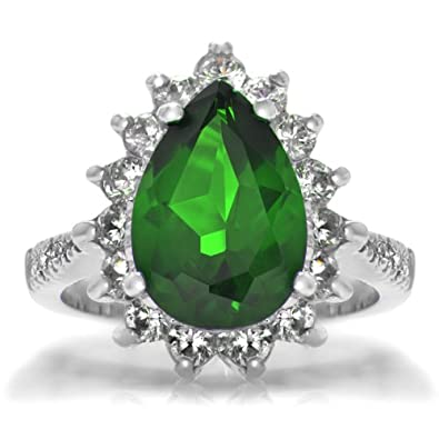 Green CZ Cocktail Ring