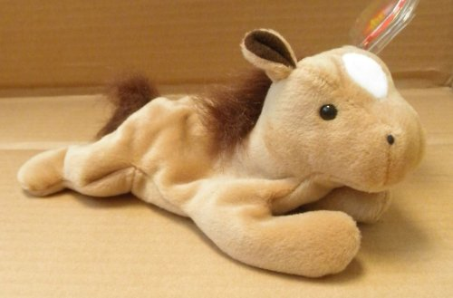 "TY Beanie Babies Derby the Horse Stuffed Animal Plush Toy 8"" - 1"