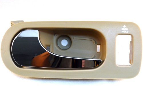 PT Auto Warehouse GM-2312ME-FL - Inside Interior Inner Door Handle, Beige/Tan (Neutral) Housing with Chrome Lever - Driver Side Front (Buick Lacrosse Door Handle compare prices)