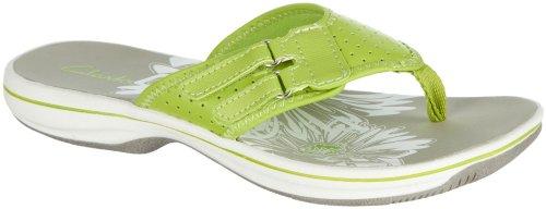 Clarks Breeze Lane Womens Flip Flop Sandals 10 M Lime front-1077308