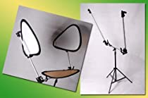 DMKFoto Complete Triflector Set with Reflectors and Stand For Portrait or Fashion Photography