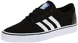 adidas Originals Men\'s Adi-Ease Skate Shoe,Black/White/Black,13 M US