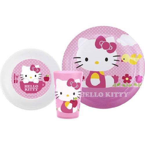 Hello Kitty 3 Piece Dinnerware Set - 1