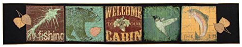 Manual Tapestry Table Runner, Cabin Sweet Cabin