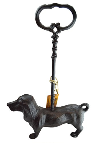 Lulu Decor, Cast Iron Dachshund Dog Door Stopper with Rod, Doorstops Weighs 6 Lbs (Dachshund) (Cast Iron Dog Door Stop compare prices)