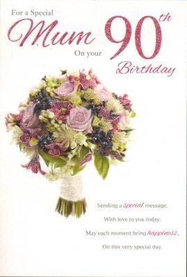 mum 90th Birthday, Birthday Card