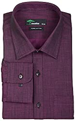 SWATHE Men's Formal Shirt (5982-4-40, Purple)