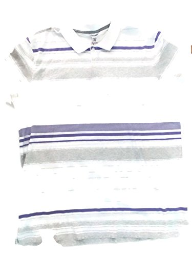 Calvin Klein Dressy Refined Polo, Madras Purple, 2XL