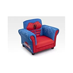 Marvel Spider-man Chair with Soft Easy to Wash Plush Material and High Quality Hardwood Frame.