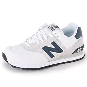 New Balance 574 ML574CVW Zapatillas de Lona para Mujer Blancas y Azul Marino - 39œ