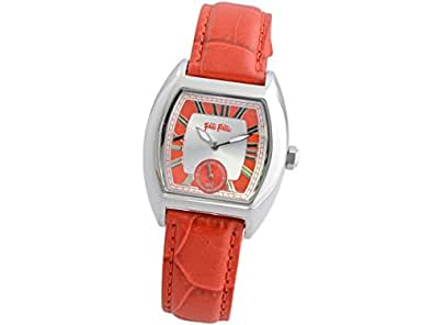 (フォリフォリ) Folli Follie 時計 トノーケース レディース 腕時計 シルバー レッド ステンレススチール レザー f2009l-ssr ブランド 並行輸入品