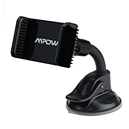 Mpow Mount Universal Car Mount Holder Cradle for iPhone 7 6 6s, Nexus, LG, HTC and More Phone Models