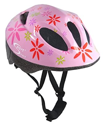Sport DirectTM Pink FlowerTM Children's Girls Helmet Pink 48-52cm by Sport Direct