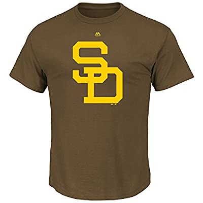 San Diego Padres Cooperstown Official Logo Brown T-Shirt