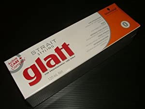 Schwarzkopf Glatt Hair Straightener Cream for Naturally Very Curly Frizzy Free Shipping Made From Thailand