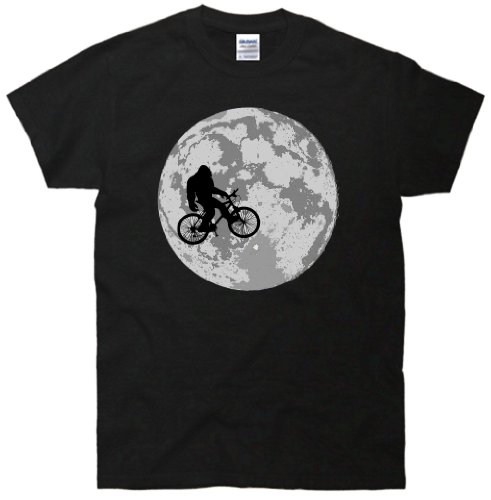 TeeShirtPalace Bigfoot In The Moon Sasquatch T Shirt Gifts For Him