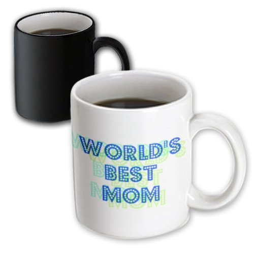 3Drose Blue And Green Worlds Best Mom - Lovable Art Magic Transforming Mug, 11-Ounce