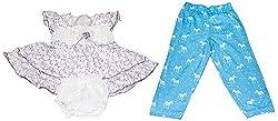 Bisbasta Baby Girl's Dress (fidatoPurpleffzpl_Multi_12 to 18 Months)