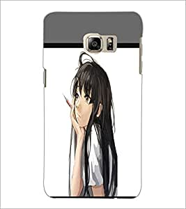 PrintDhaba Dreaming Girl D-1371 Back Case Cover for SAMSUNG GALAXY NOTE 5 (Multi-Coloured)