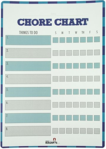 Reward Chart / Behavior Chart / Chore Chart / Responsibility Chart for Kids - Magnetic & Dry Erase - Daily & Weekly - 2 Magnetic Dry Erase Markers Included - Made in USA (Chore Chart Multiple Kids compare prices)