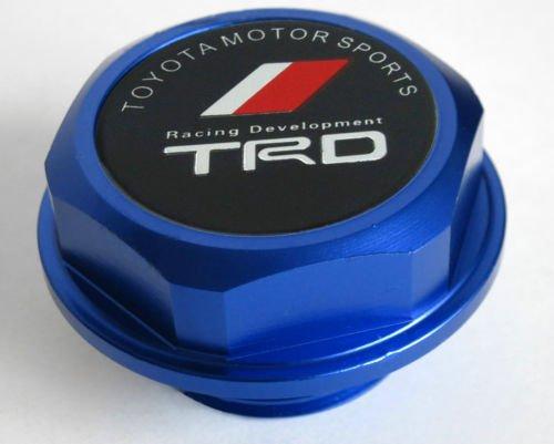 Amooca For Toyota Accessories TRD Billet Screw-on Aluminum Engine Oil Filler Cap Fuel Filler Tank Cover JDM Oil Cap (blue) (Jdm Engine Oil Cap compare prices)