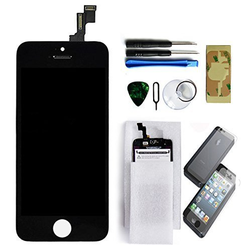 Black Retina LCD Touch Screen Digitizer Glass Replacement Full Assembly for iPhone 5S