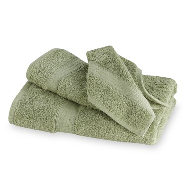 2 Pc Luxury Egyptian Cotton Combed Bath Towel Set Jade Sage front-649737