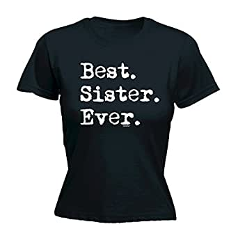 Fonfella slogans women s best sister ever fitted t shirt clothing