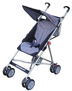 Bebelove USA Tilting Umbrella Stroller, Gray with Orange Circles