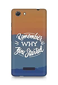 AMEZ remember why you started Back Cover For Micromax Unite 3