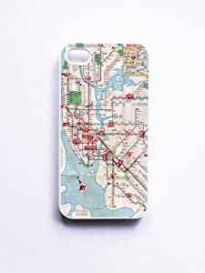 iPhone 4/4S Case Vintage New York Subway Map - White