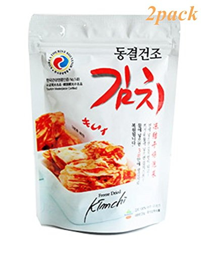 Freeze Dried Kimchi 2pcs X 20g(0.7oz), with Rice, Noodle, Soup, Korean Recipe Business trip Mountain climbing fishing Camping Travel Gift promotion Party food (Kimchi Rice compare prices)