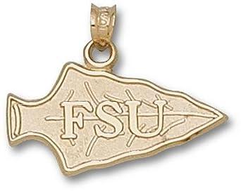 Florida State Seminoles FSU Spearhead Pendant - 14KT Gold Jewelry by Logo Art