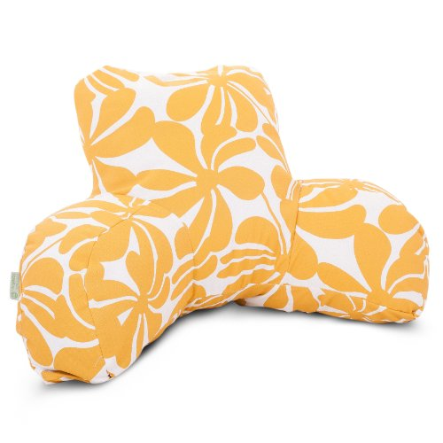 Majestic Home Goods Plantation Reading Pillow, Yellow front-314087
