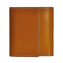 ZLYC Women Minimalism Fashion Handmade Luxurious Leather Bifold Wallet Purse, Yellow