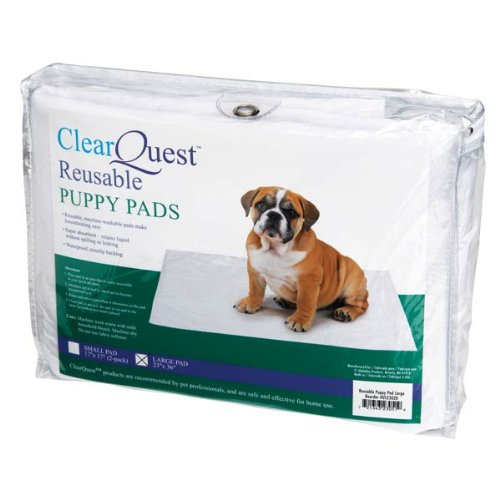 Clearquest Puppy Reusable Pad, Large, White front-505543