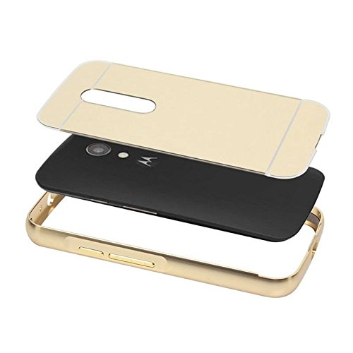 sports shoes 37b4f 913d2 New Luxury Metal Bumper Acrylic Mirror Back Cover Case For Moto G Plus 4th  Gen G4 Plus / G 4th Generation - Rose Gold