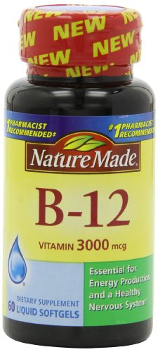 Nature Made Vitamin B-12 Softgels, 3000 Mcg, 60 Count (Vitamin Gel Caps compare prices)