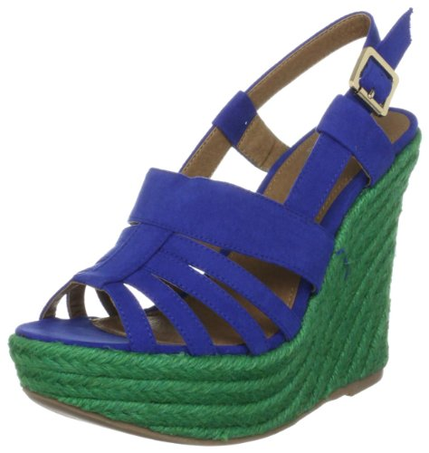 Carvela SP Women's Carly Blue Wedge Heels 2798189979 5 UK