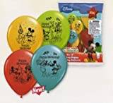 Mickey Mouse Birthday Balloons - Package of 6