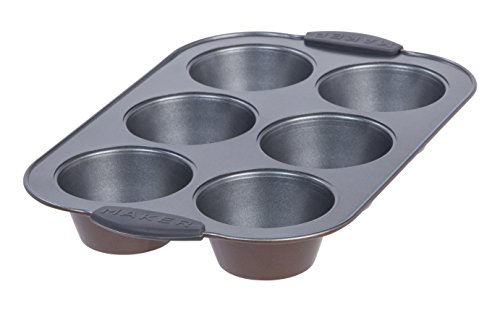MAKER Homeware 6 Cup Jumbo Muffin Pan