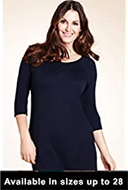 Marks and Spencer Lady Wearing Plus Size T Shirt