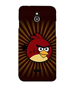 printtech Angry Bird Red Back Case Cover for Infocus M2